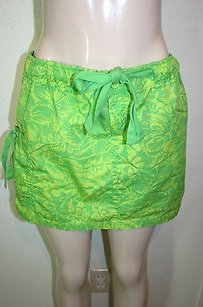 Gap Body Petite Floral Mini Skirt Green