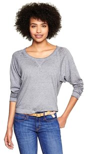 Gap Pullover Dolman Sleeve Comfortable Soft Burnout Top Grey