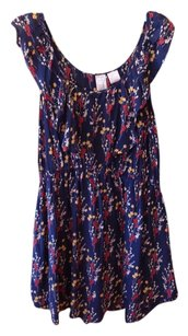 Gemma short dress Navy Blue (Floral print) Silk on Tradesy