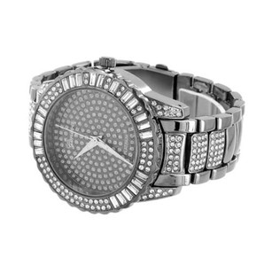 Geneva Iced Out Mens Watch Hip Hop Rapper Wear Simulated Diamonds Space Gray Geneva