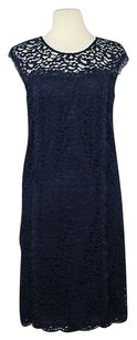 GERARD DAREL short dress Navy Womens Floral Lace Shift Knee Length Formal on Tradesy