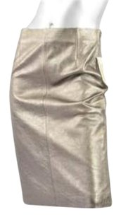 GERARD DAREL Womens Metallic Pencil Skirt Pewter