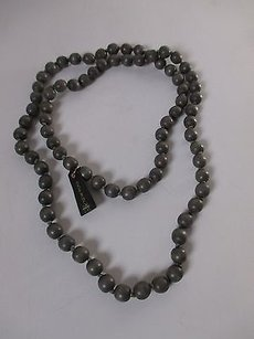 Gerard Yosca Gerard Yosca Grey Wood Knotted Bead Necklace