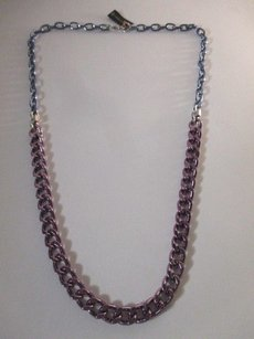 Gerard Yosca Gerard Yosca Purple Blue Crystal Long Link Necklace