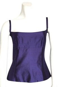 Gianfranco Ferre Silk Top Purple