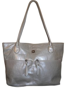 Giani Bernini Leather Tote in beige