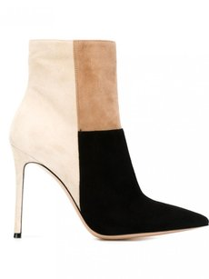 Gianvito Rossi Suede Zip Up Pointed Geneva Ankle Multi-Color Boots