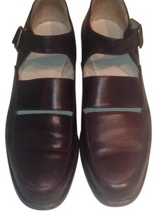 Giorgio Armani Calfskin Loafer Brown Dark Brown Flats