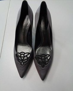 Giorgio Armani Gray And Black Pumps