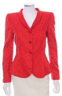 Giorgio Armani Cotton Rayon Metallic Red Blazer
