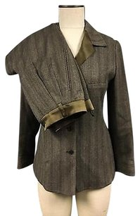 Giorgio Armani Giorgio Armani Brown Wool Blend Button Up Blazer W Pleated Pant Suit 3131a