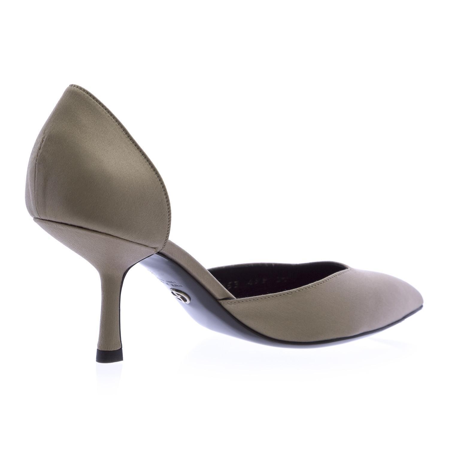 Taupe Kitten Heel Shoes