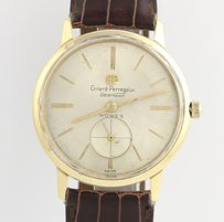 Girard-Perregaux Girard-perregaux Sea Hawk Mens Wristwatch - 18k Yellow Gold Brown Leather Band