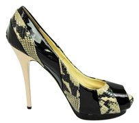 Giuseppe Zanotti Womens Black Multi-Color Platforms