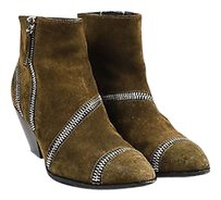 Giuseppe Zanotti Olive Suede Green Boots