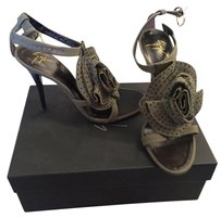 Giuseppe Zanotti Flower Appliqu Is Studed Khaki Sandals