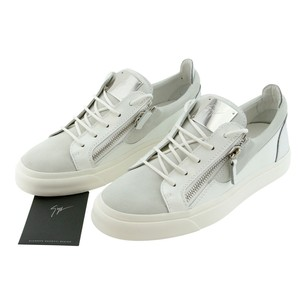 Giuseppe Zanotti Men Zanotti Sneakers High-top Sneakers Double Zipper Light Gray Athletic