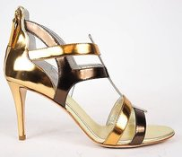 Giuseppe Zanotti Spectrum Zip Up Gladiator Heels Eu Gold Pumps