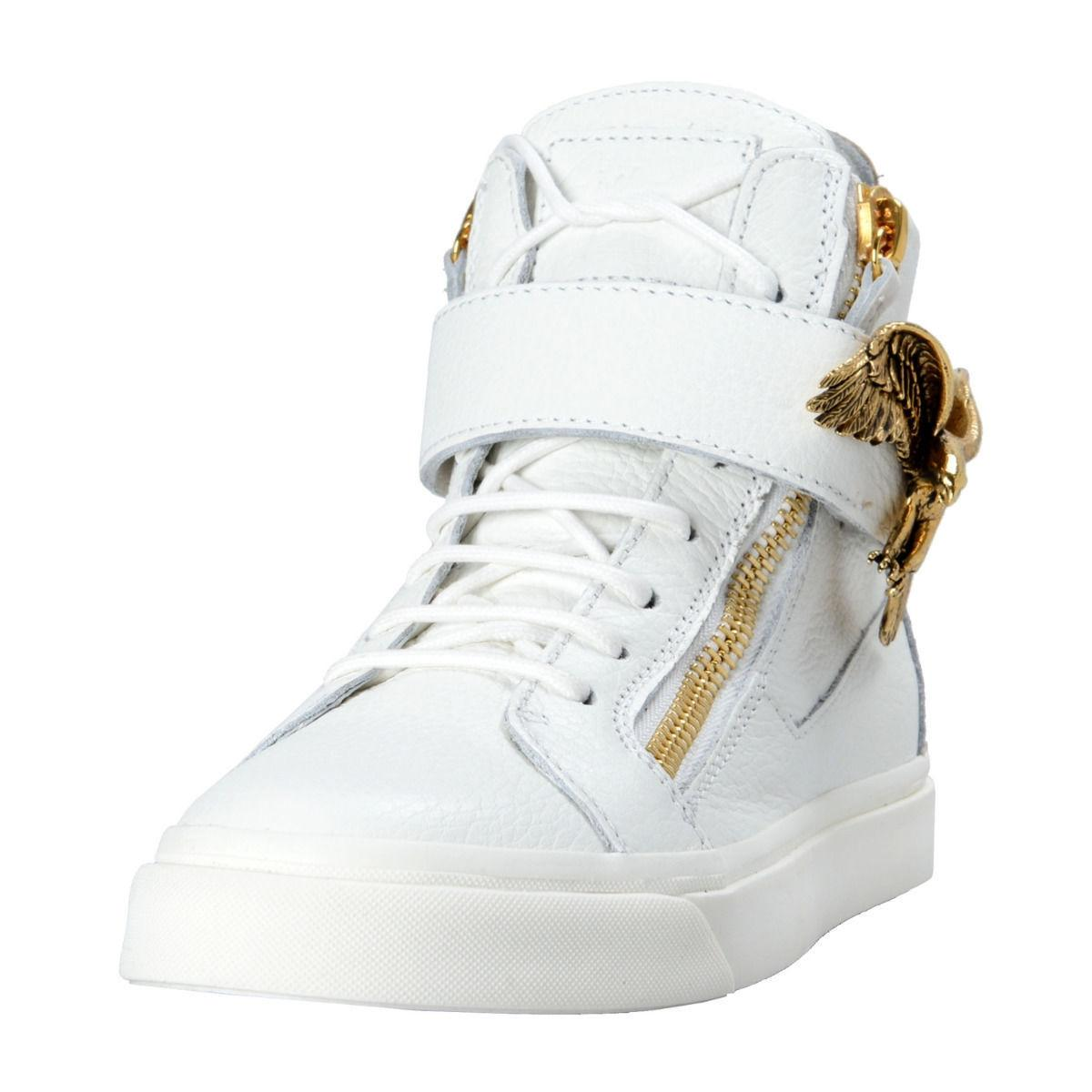Giuseppe Zanotti Woman London Leather And Metallic Suede Sneakers Bright Size 39 v8Yj54kS