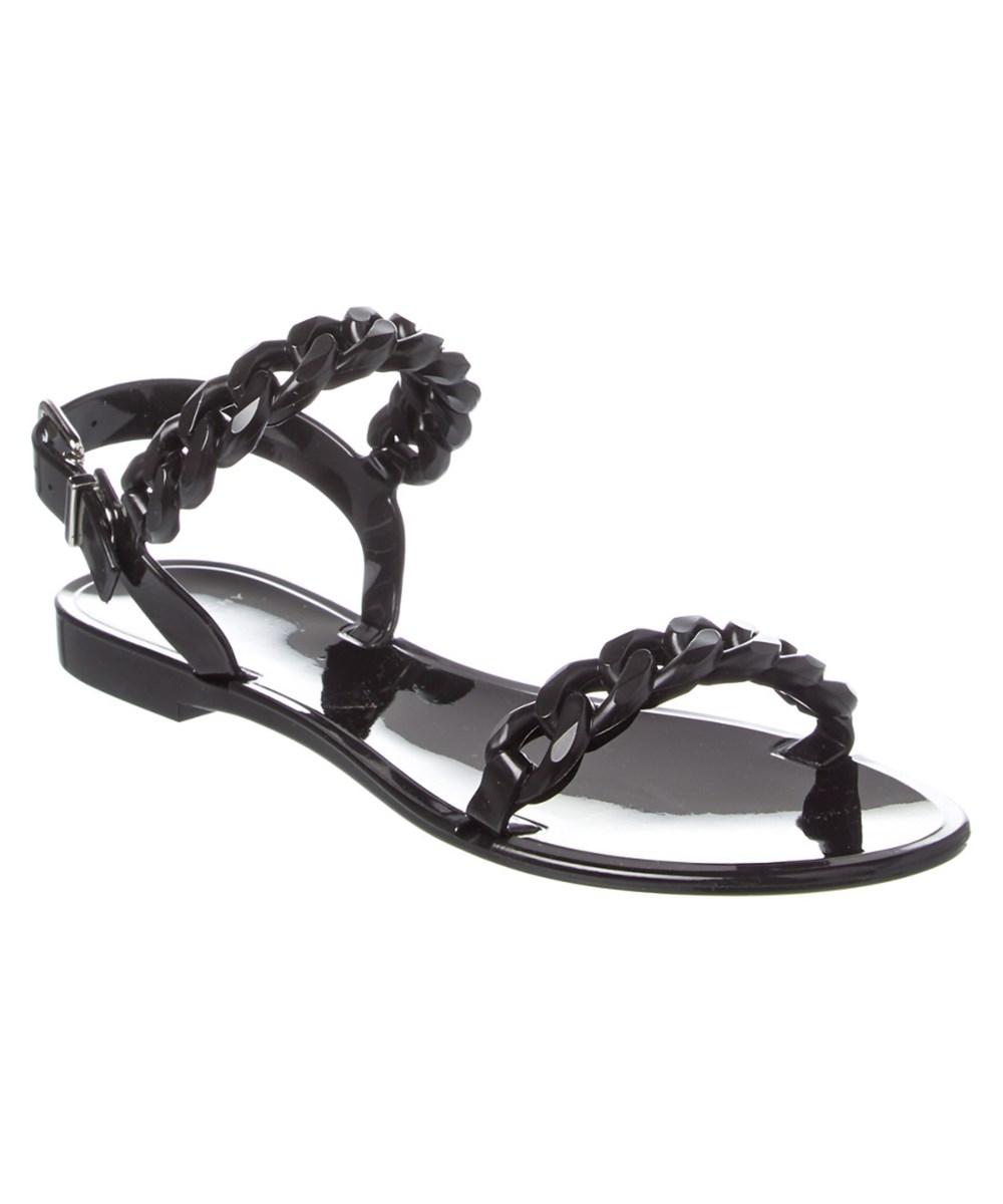 Givenchy Black Chain-link Jelly Sandals 4mz0918 Flats Size EU 37 (Approx. US 7) Regular (M, B)