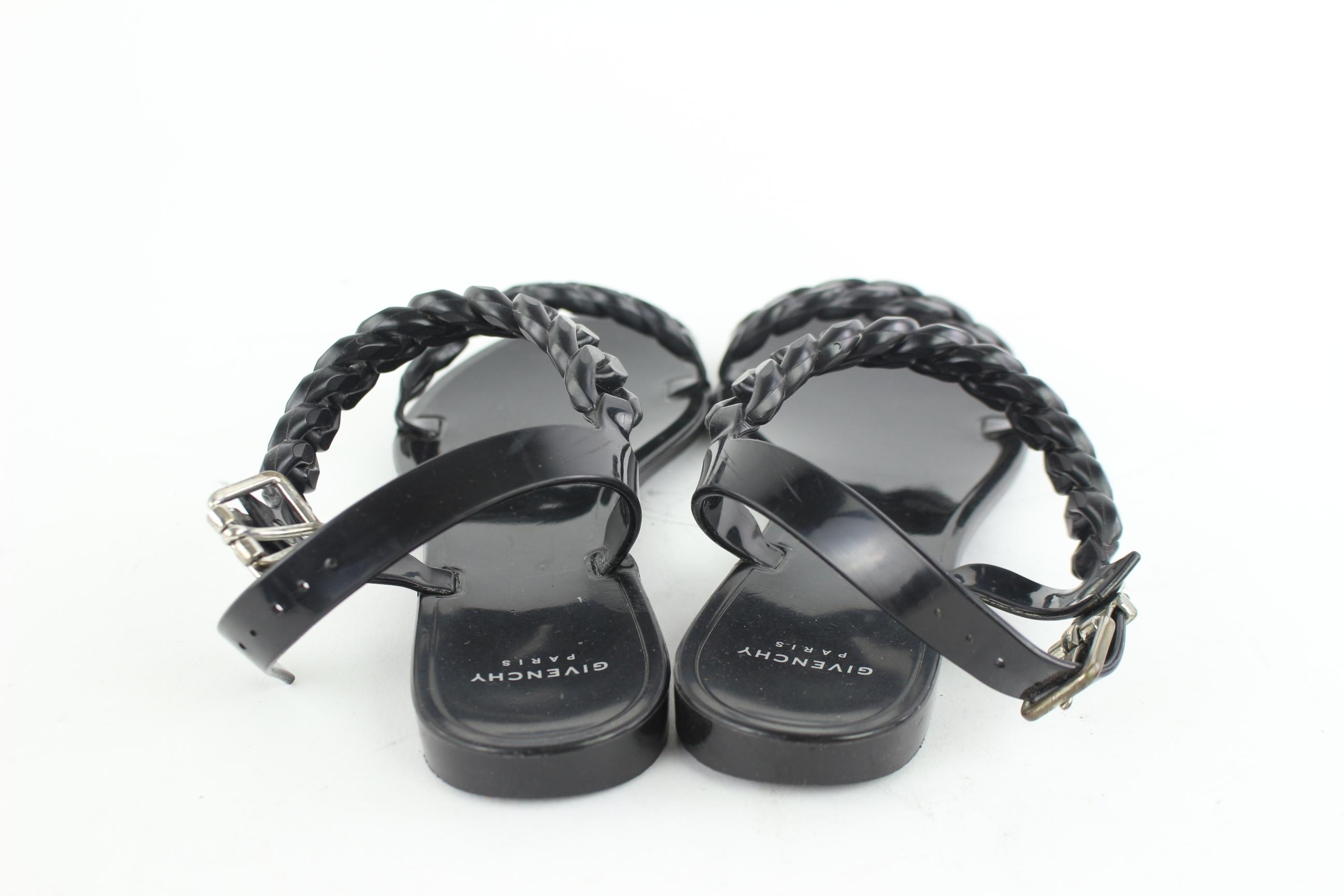 030322f263ef ... Givenchy Black Chain-link Jelly Sandals 4mz0918 4mz0918 4mz0918 Flats Size  EU 37 (Approx ...