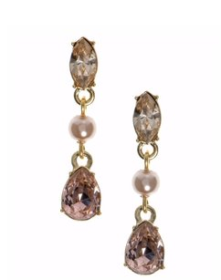 Givenchy Givenchy Goldtone Blush Simulated Pearl Linear Earrings