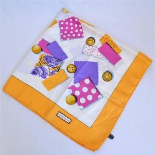 Givenchy Givenchy Multi-color Polka-dot Button Printed Silk Twill Satin Square Scarf