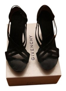 Givenchy Leather Wedge Platform Black Platforms