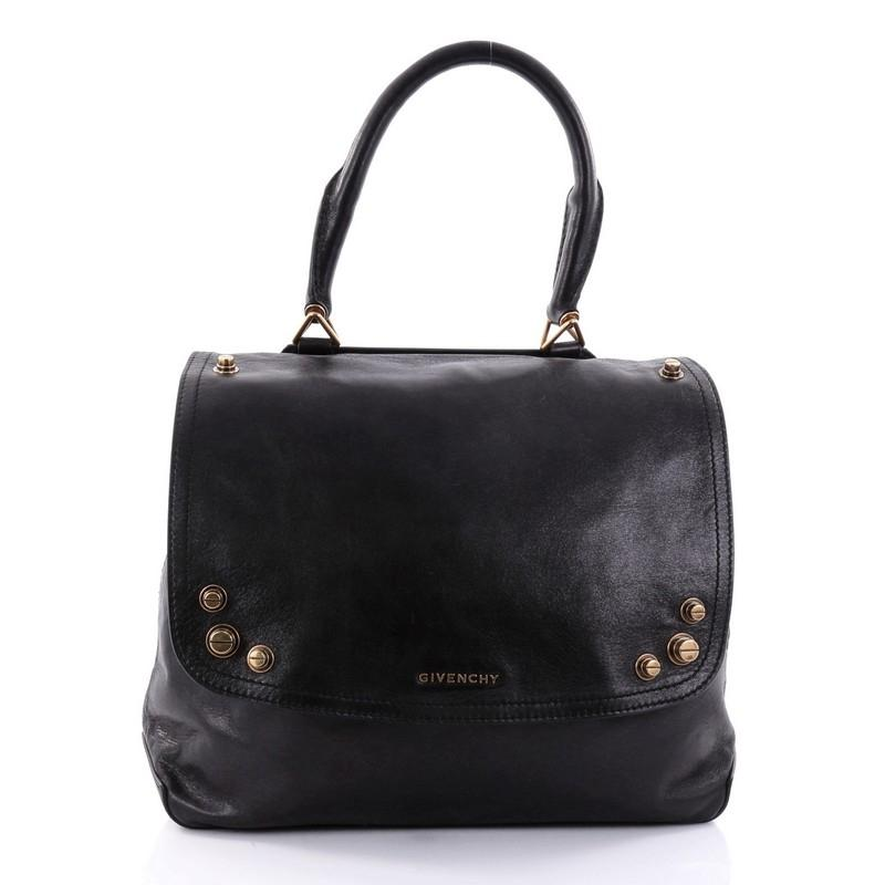 Givenchy Mirte Saddle Bag Bolt Stud Leather Large