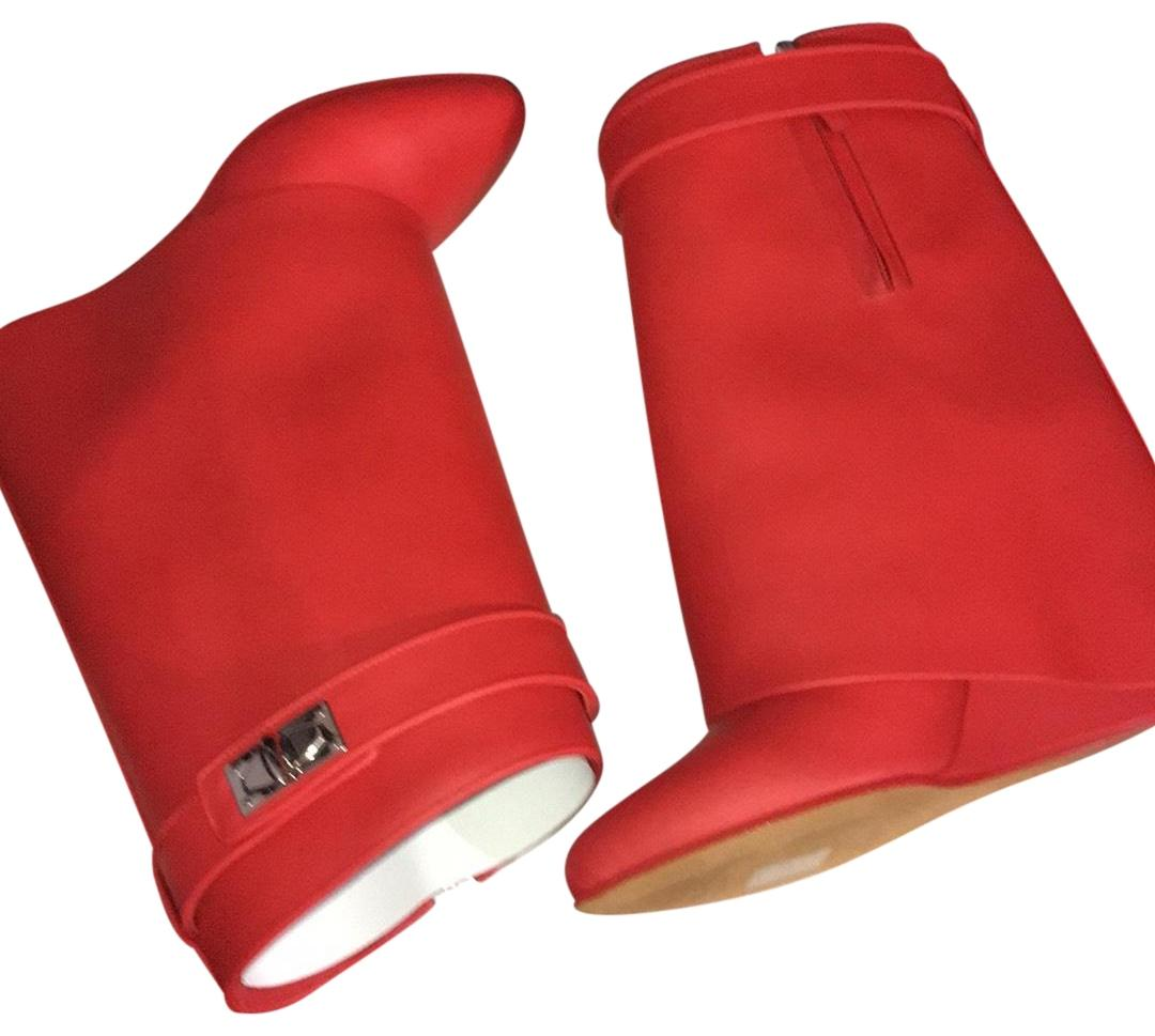 Givenchy Red Shark Boots/Booties Size US 6.5 Regular (M, B)