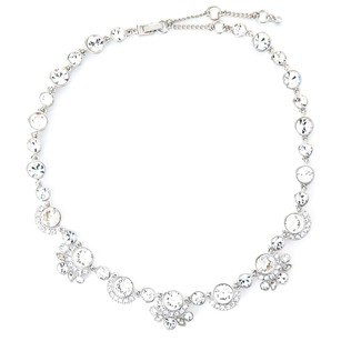 Givenchy Silver-Tone Linked Collar Necklace