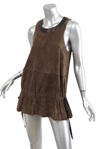 Givenchy Womens Suede Top Brown