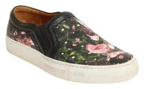Givenchy Floral Print Rose Leather Slip On Low Tops Sneakers Loafers Black Athletic