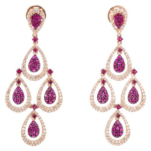 1.67CTW RUBY AND DIAMOND EARRINGS