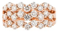 GLK 14K ROSE GOLD 1.59CT DIAMOND MULTIROW RING
