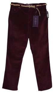 Gloria Vanderbilt Boot Cut Pants Burgundy