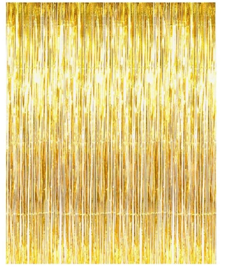 Gold Metallic Foil Fringe Curtains For Door Window Reception Decoration  sc 1 st  Tradesy : door fringe - pezcame.com