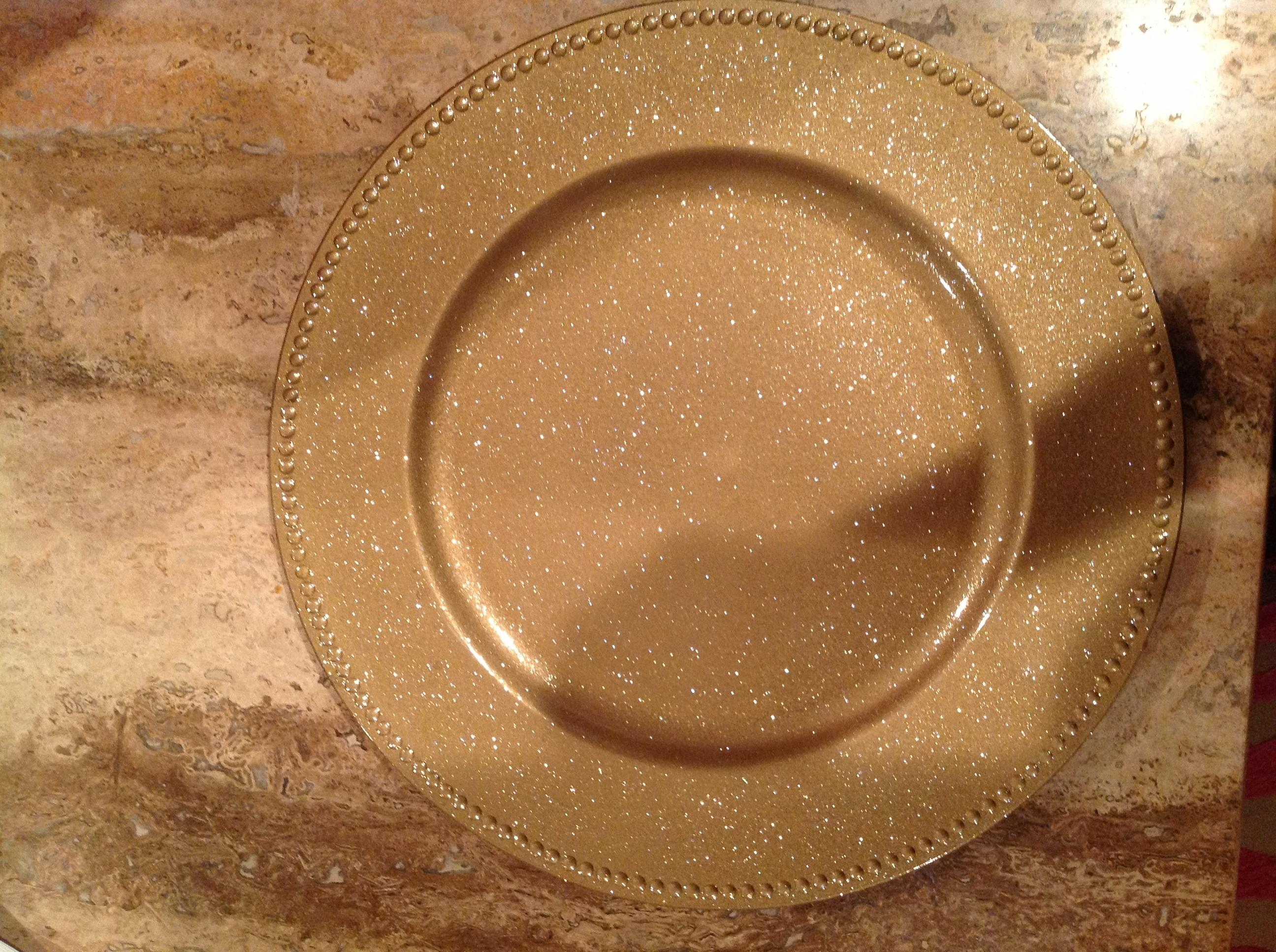Gold Sparkle Chargers Tableware & Gold Sparkle Chargers Tableware - Tradesy
