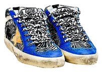 Golden Goose Deluxe Brand Blue Black White Multi-Color Athletic