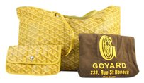 Goyard Neverfull Black Tote in Yellow