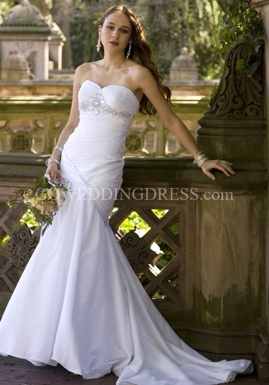 group usa wedding dresses mermaid princess neckline strapless 2060w wht wedding 4633
