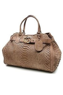 Gucci Python Gg Running Tote in Brown