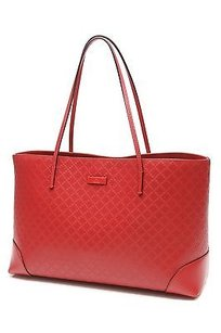Gucci Diamante Leather Tote in Red