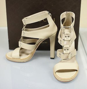 Gucci Gladiator Leather Oatmeal Platforms