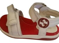 Gucci Baby White & Red Sandals