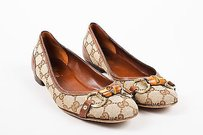 Gucci Monogram Canvas Brown Flats