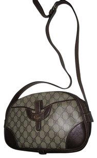Gucci Bohemian Satchel in coated canvas brown large G logo print & brown leather