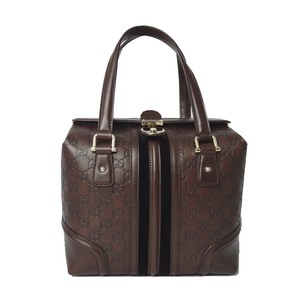 Gucci Boston Doctor Tote Satchel in Brown