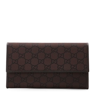 Gucci Brown GG Canvas Flap W