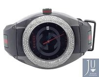 Gucci Custom Mens Gucci Sync 46mm Pave Set Diamond Watch Ct Ya137101